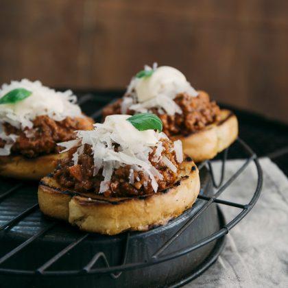 Leftover Bolognese Sliders