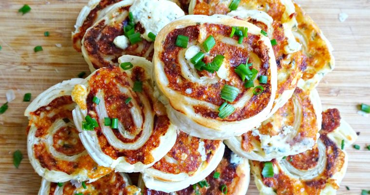 Mini Cheese and Chive Pinwheels