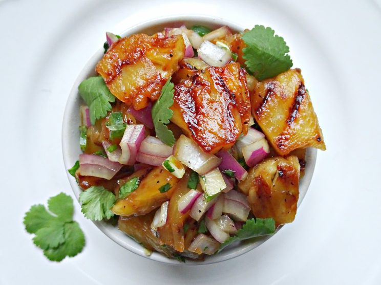 Sweet and Spicy Grilled Pineapple Salsa | Don't Go Bacon My Heart