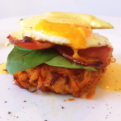 Breakfast Stack with Hollandaise Sauce