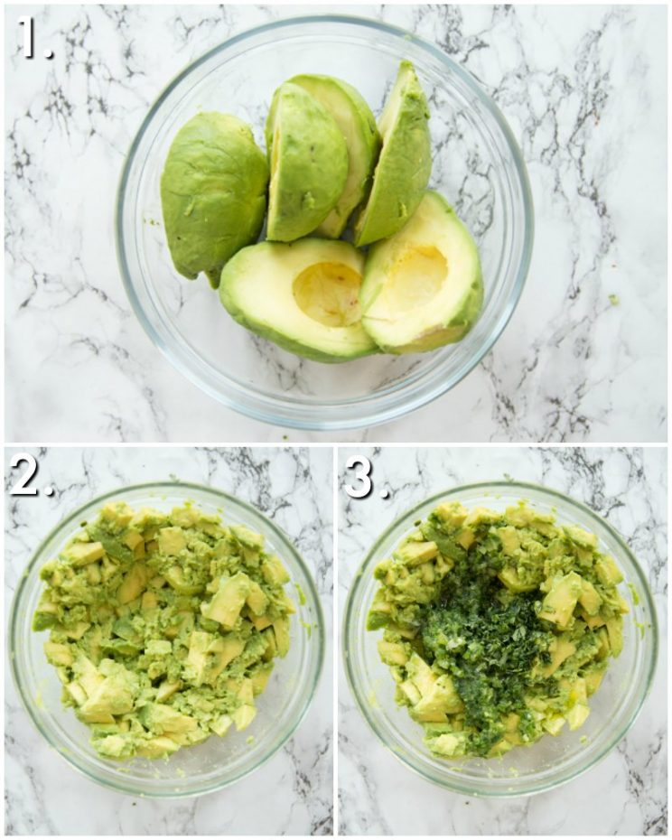 How to make chunky guacamole - 3 step by step photos