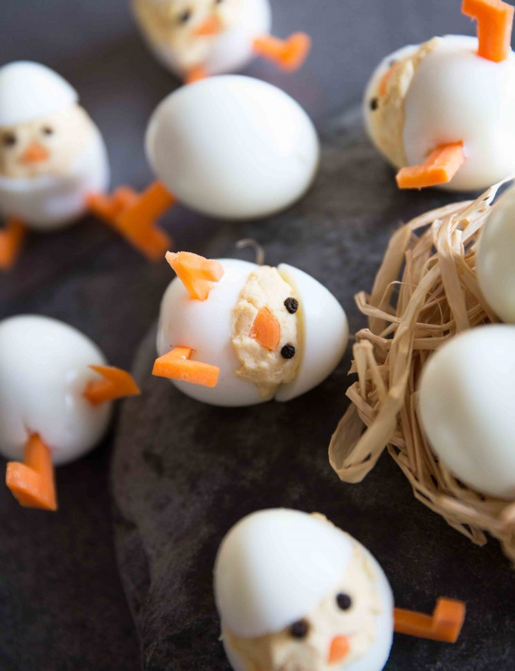 Deviled Egg Chicks Fallen Over