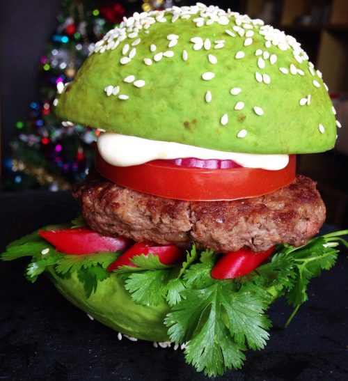 avocado burger bun