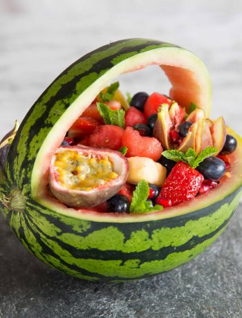 How to make a Watermelon Basket - side on