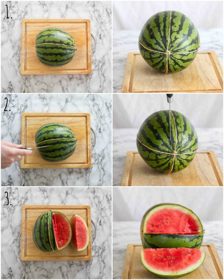 How to make a Watermelon Basket step by step photos
