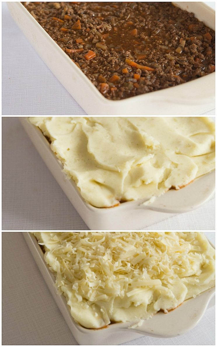 How to make cottage pie - 3 step by step photos