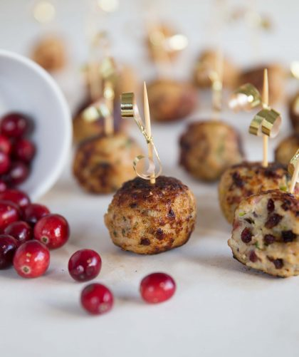 Sage and Cranberry Turkey Meatballs
