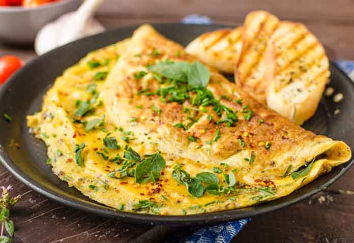 Baked Bean and Cheese Omelette