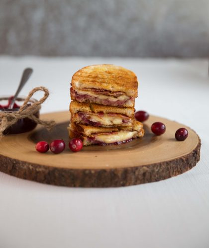 Cranberry Bacon Brie Grilled Cheese | Don't Go Bacon My Heart