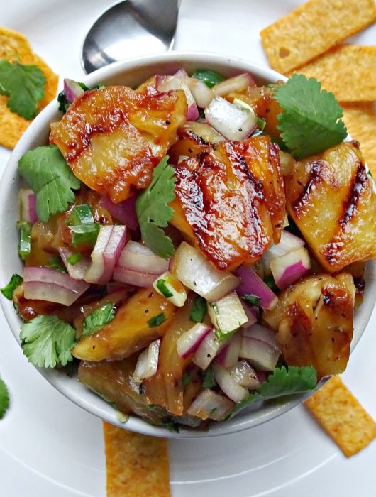 Sweet and Spicy Grilled Pineapple Salsa