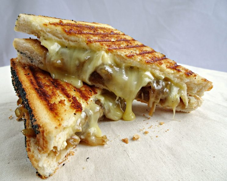 Recipes using Caramelized Onions - brie and caramelized onion grilled cheese