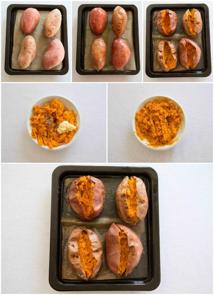 How to make loaded sweet potatoes