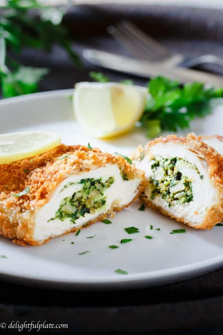 20-minute-dinner-recipes-Basil-spinach-stuffed-chicken-breast