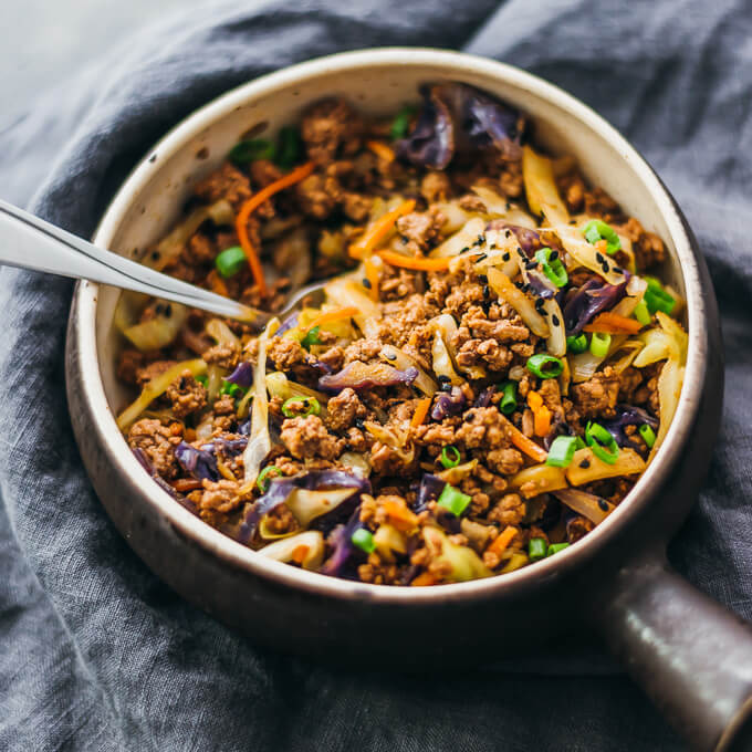 20-minute-dinner-recipes-ground-beef-cabbage-stir-fry