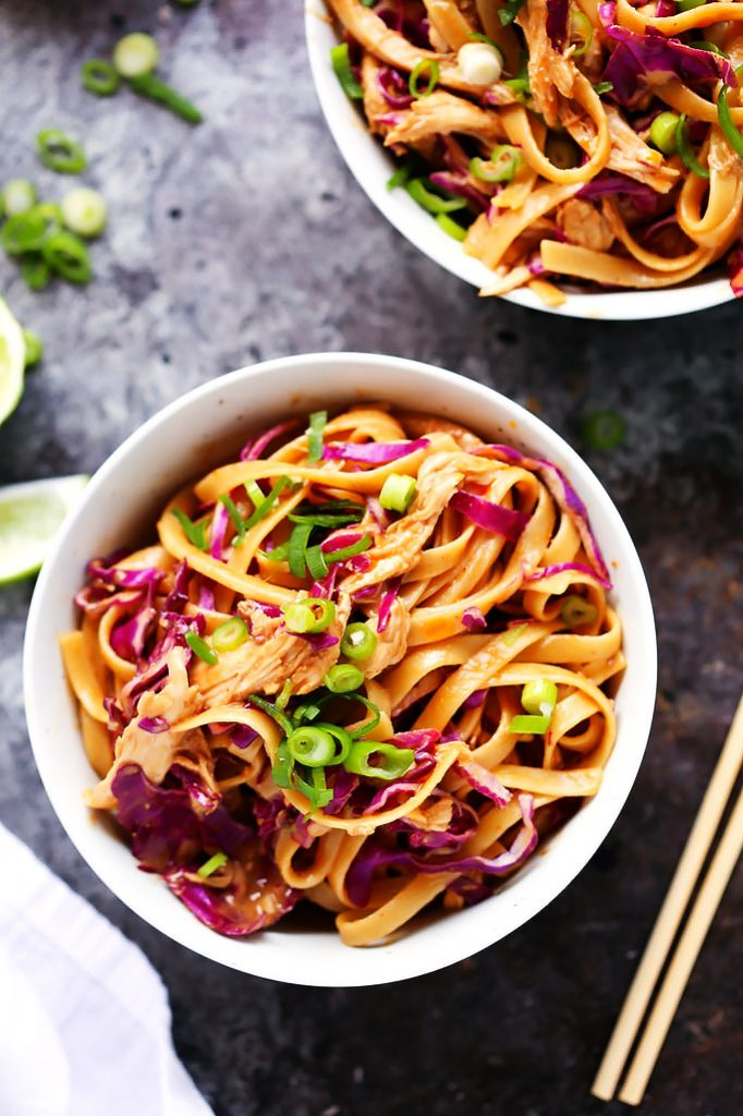 20-minute-dinner-recipes-sesame-chicken-noodle-bowls