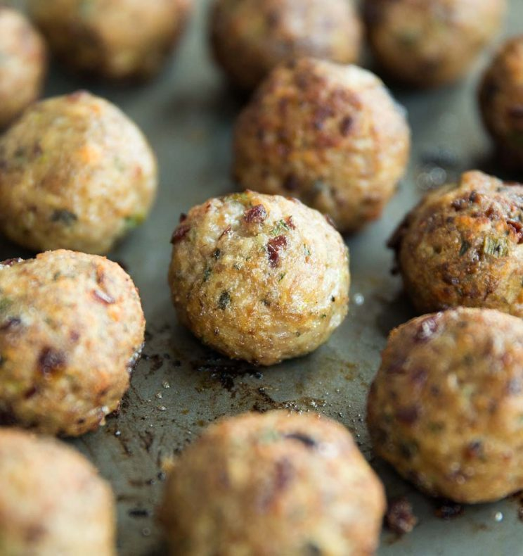 Baked Cranberry Turkey Meatballs fresh out the oven