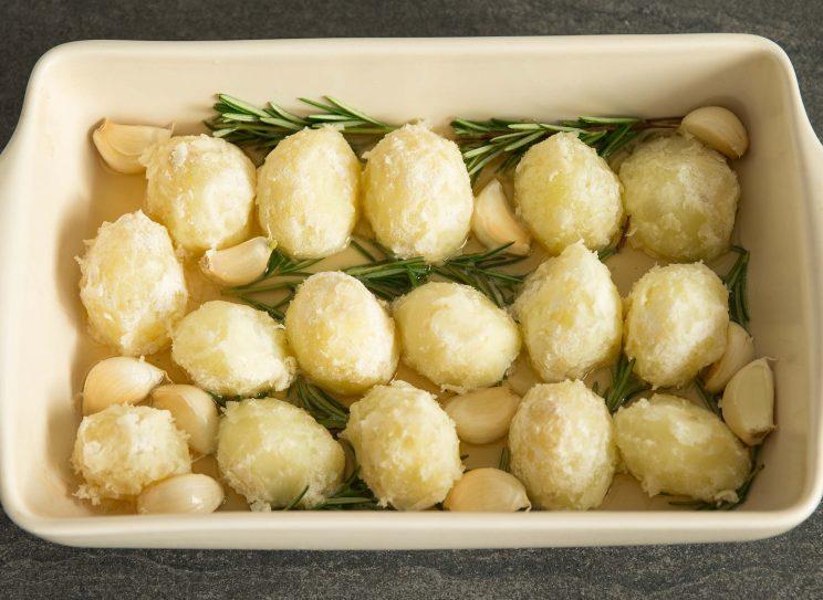 Goose Fat Roast Potatoes - pre oven