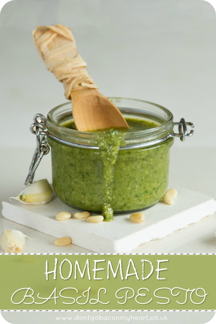 Making your own fresh homemade pesto couldn't be more simple. Here I'll show you exactly how to make basil pesto in the tastiest way possible #basil #pesto #basilpesto | www.dontgobaconmyheart.co.uk