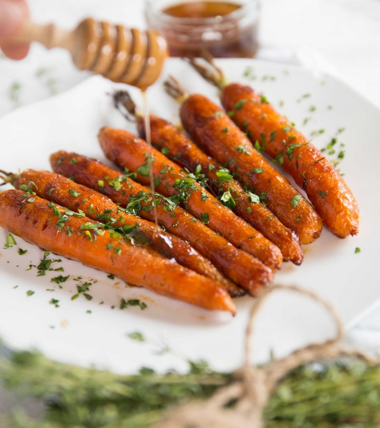 Honey Balsamic Roasted Carrots - Dripping Honey