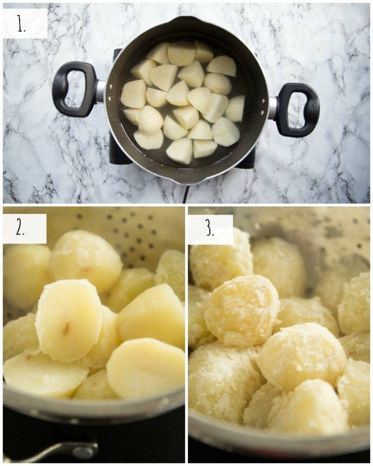 How to boil roast potatoes - step by step