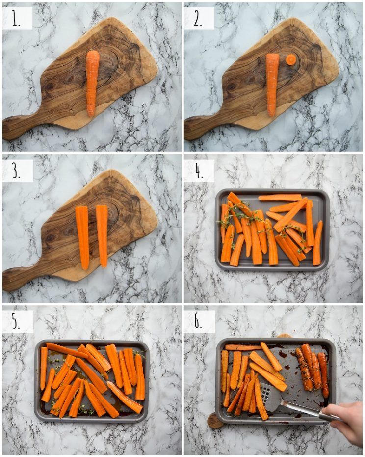 How to make honey balsamic roasted carrots step by step photos