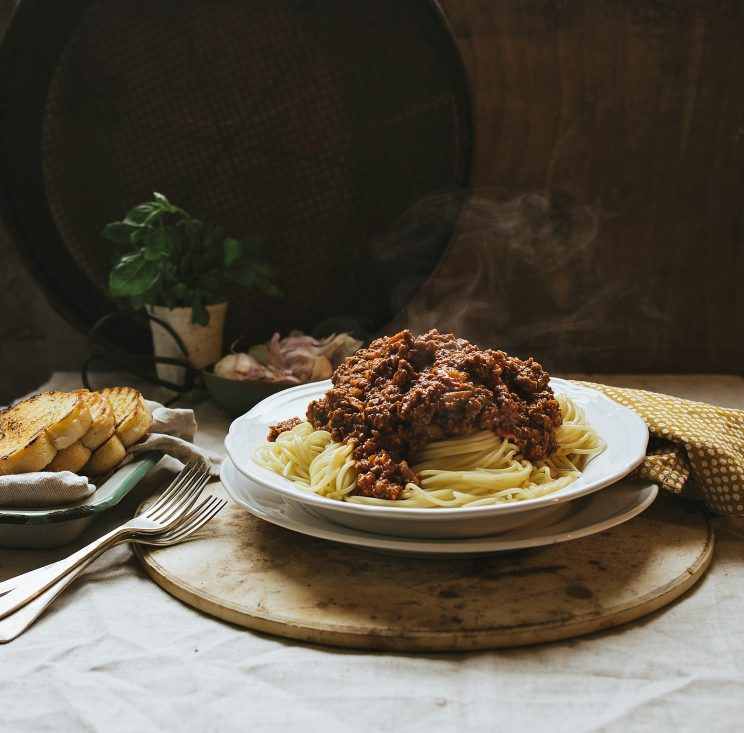 The Best Spaghetti Bolognese Recipe - with steam floating off