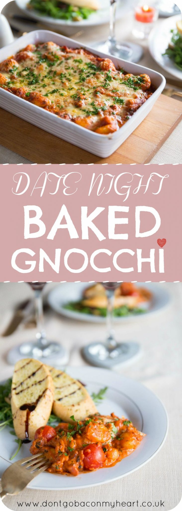 Date Night Baked Gnocchi with Bacon