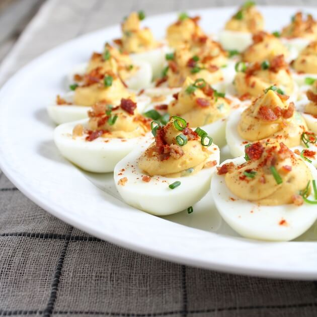 Easy Bacon Appetizers - Smoky Deviled Bacon and Eggs