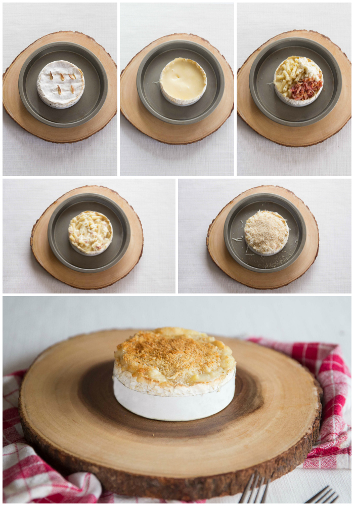 Baked Camembert Mac and Cheese Process Shots