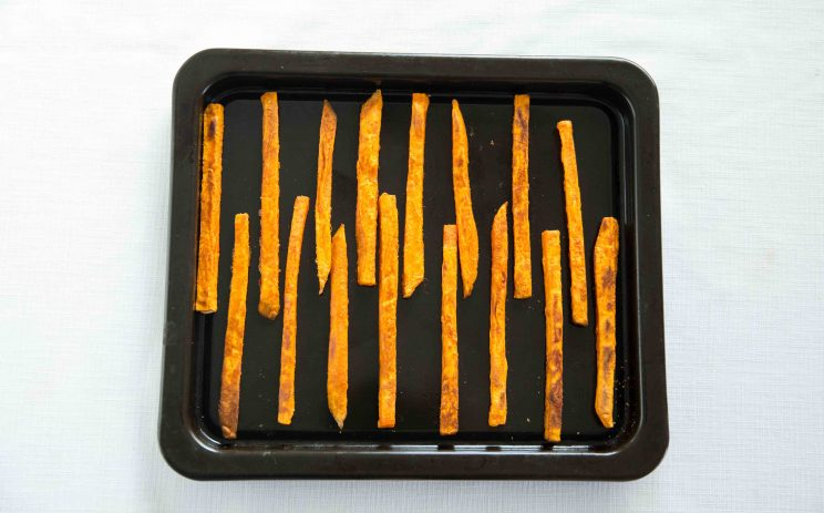 Crispy Oven Baked Sweet Potato Fries - Mid Oven