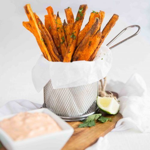 Truly Crispy Oven Baked Sweet Potato Fries Don T Go Bacon My Heart