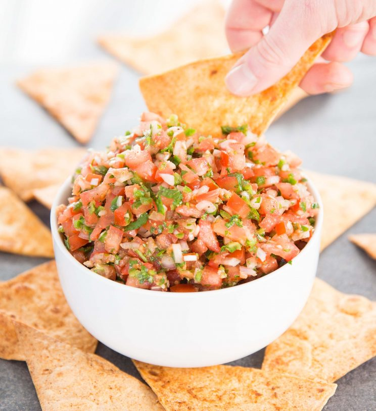 Homemade Fresh Salsa with tortilla chips