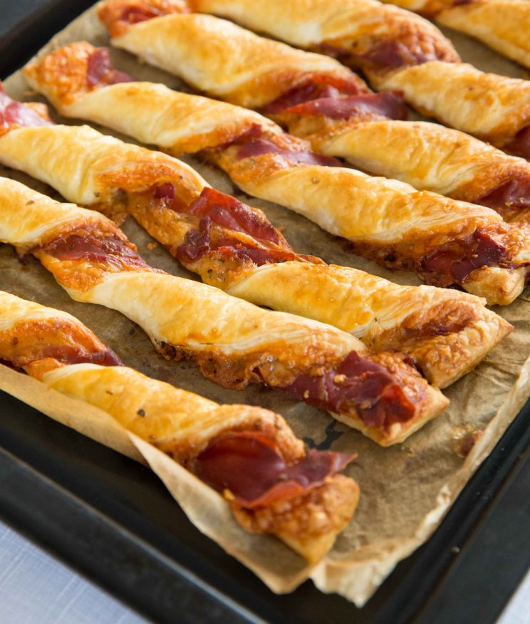 Cheese and Prosciutto Twists Fresh Out The Oven