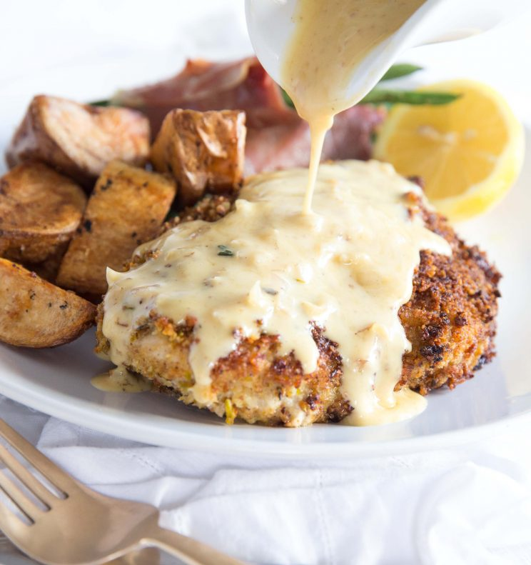 Pistachio Crusted Chicken with a Honey Mustard Sauce