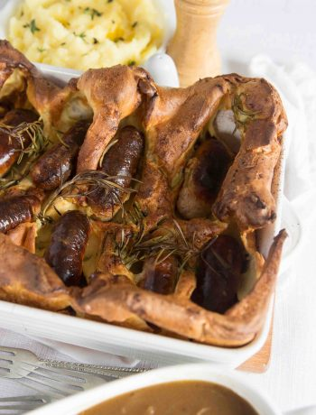 Easy Toad in the Hole with Gravy ready to pour