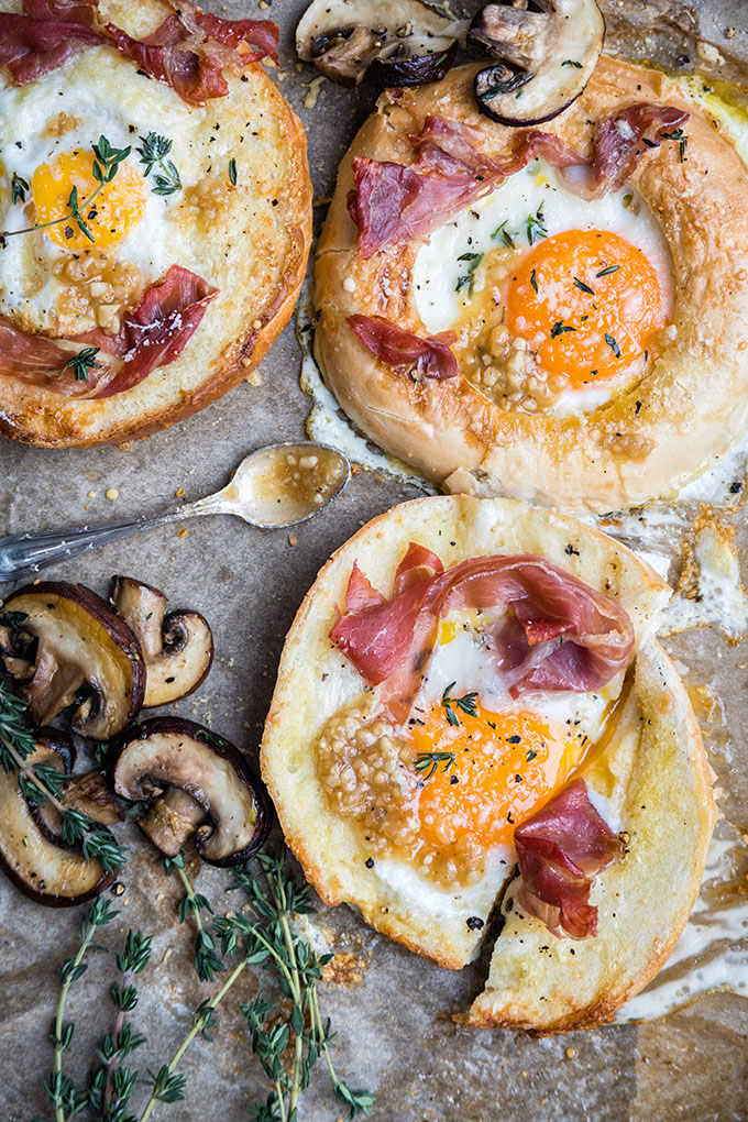 Savory Breakfast Ideas - Egg in Hole Bagel