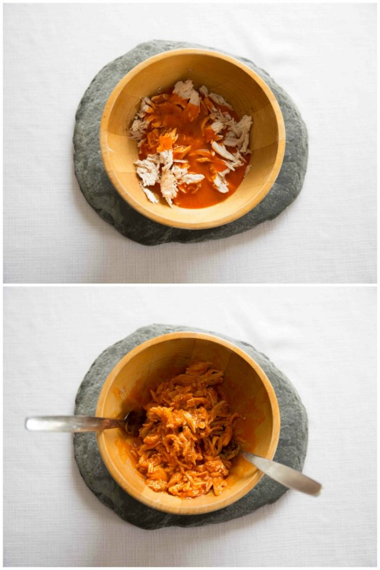 Shredded Buffalo Chicken Wraps - Homemade Buffalo Sauce