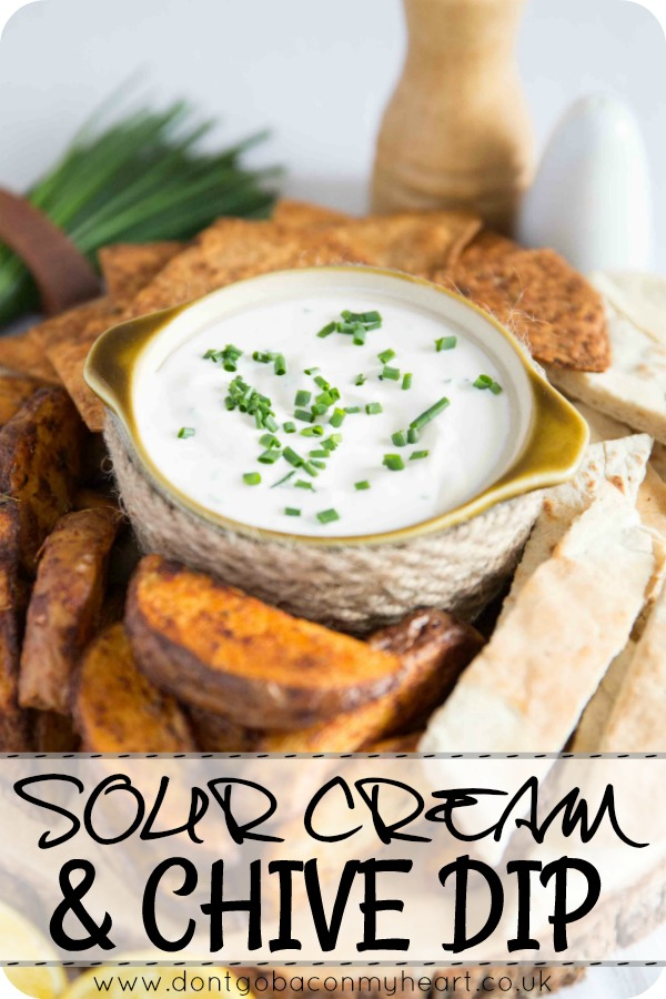 Everybody needs an easy go-to dip for entertaining and this is Sour Cream and Chive Dip recipe is the perfect fit. Incredibly versatile and packed with flavour, using minimal ingredients! #dip #cream #snack | www.dontgobaconmyheart.co.uk