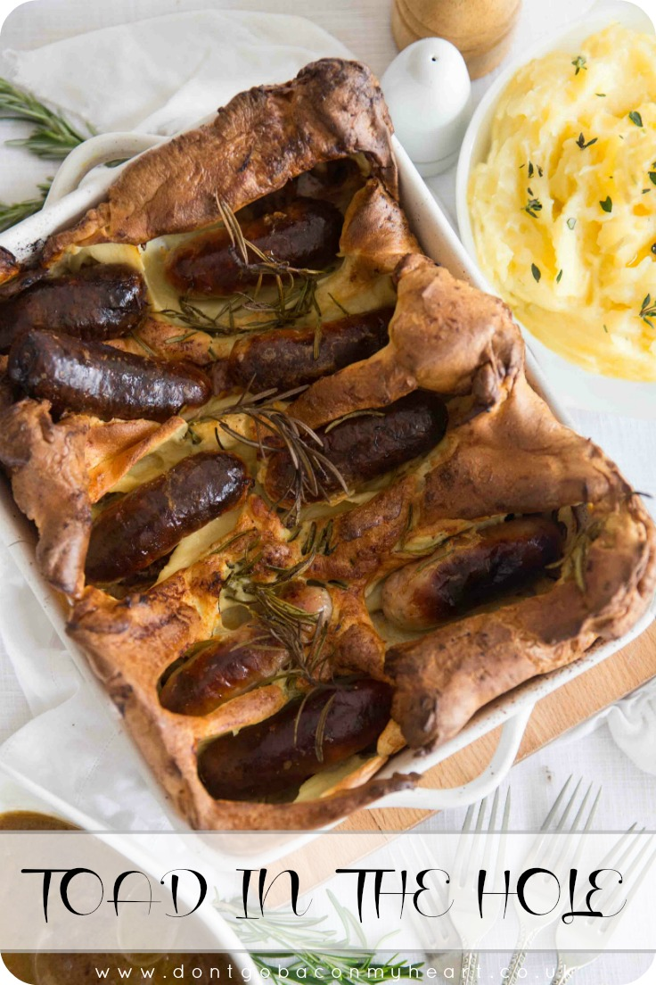 This Easy Toad in the Hole Recipe is an absolute British classic. There's just a few tips and tricks note before you get started, but after seeing how easy this recipe is to make, I guarantee it will become one of your families regular dinners! #comfortfood #toadinthehole #sausage #yorkshirepudding   www.dontgobaconmyheart.co.uk