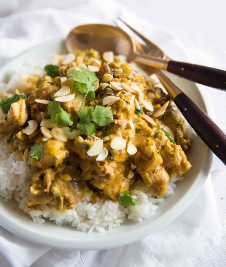 Coronation Chicken served with rice