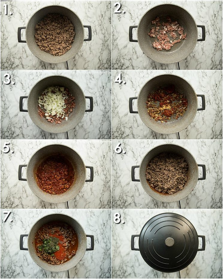 How to make the best spaghetti bolognese - 8 step by step photos