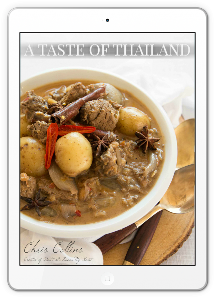 A Taste of Thailand Front Cover on ipad