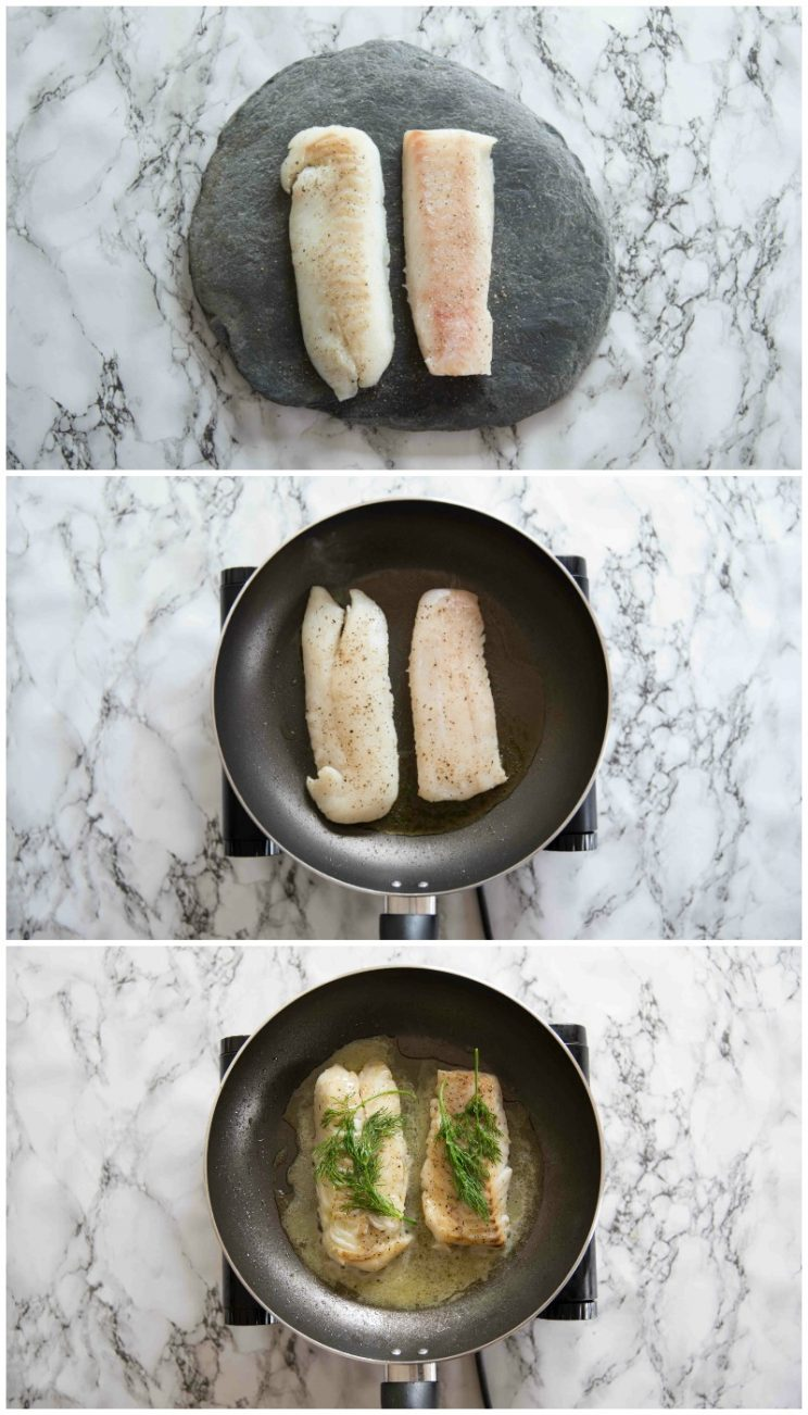 How to pan fry cod - guidance photos