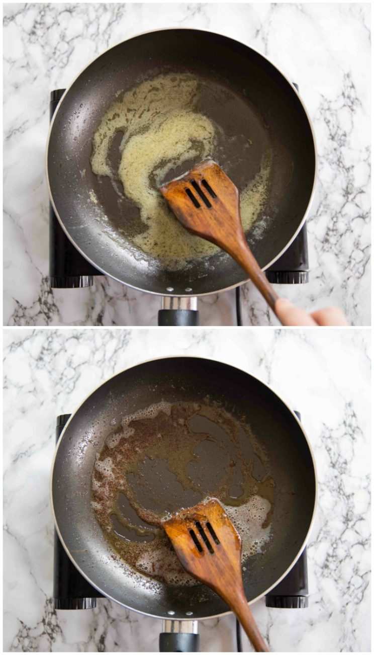 How to make browned butter sauce guidance photos