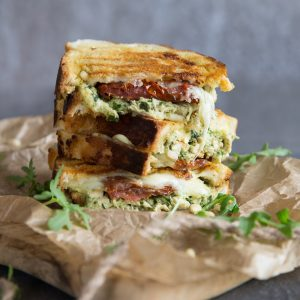 Chicken Pesto Grilled Cheese