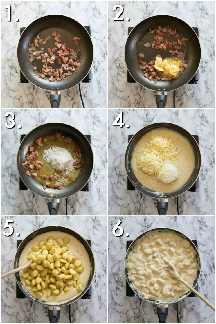 How to make Gnocchi Mac and Cheese on the stove - guidance pictures