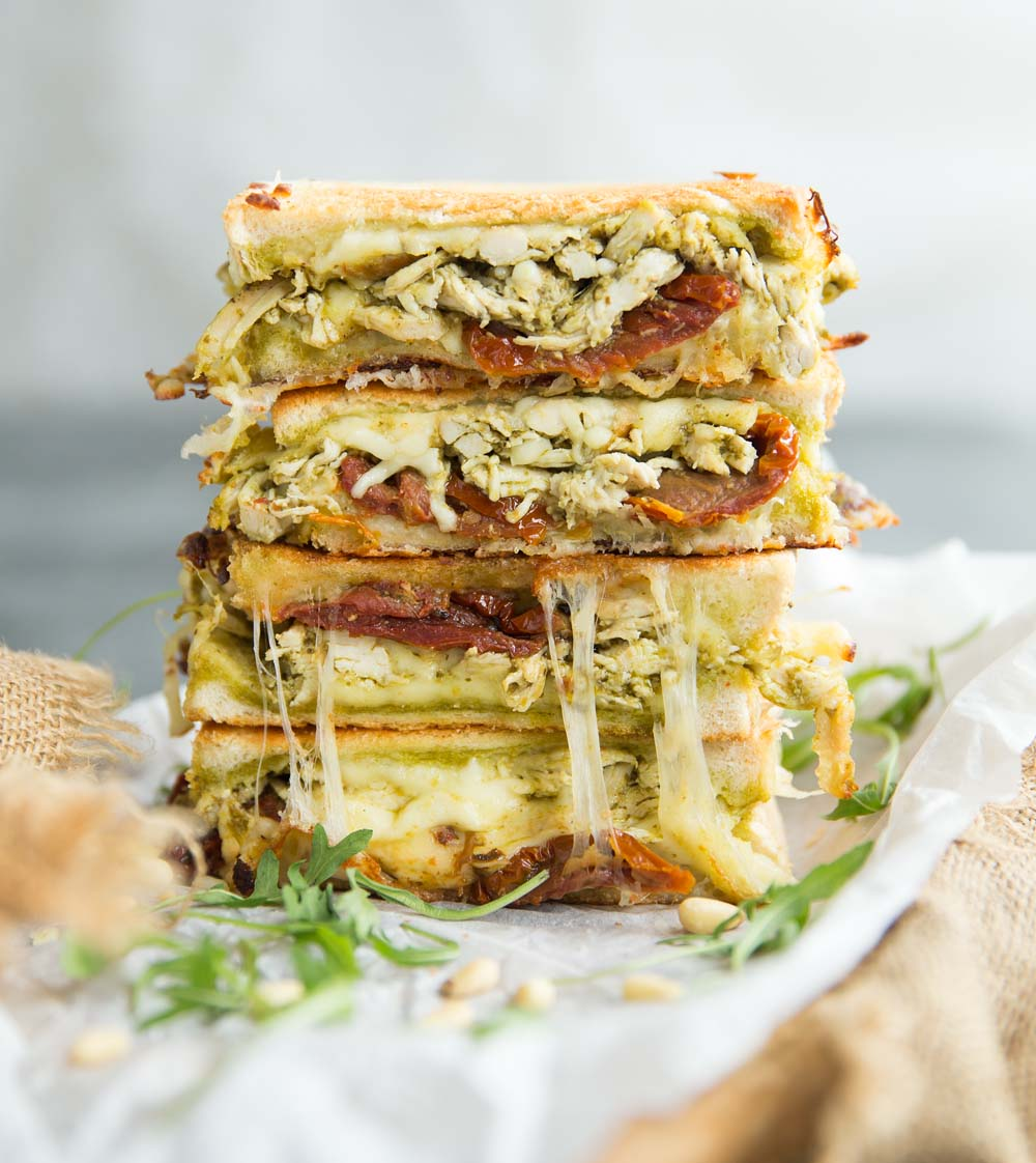 Mega Chicken Pesto Grilled Cheese Sandwich Don T Go Bacon My Heart
