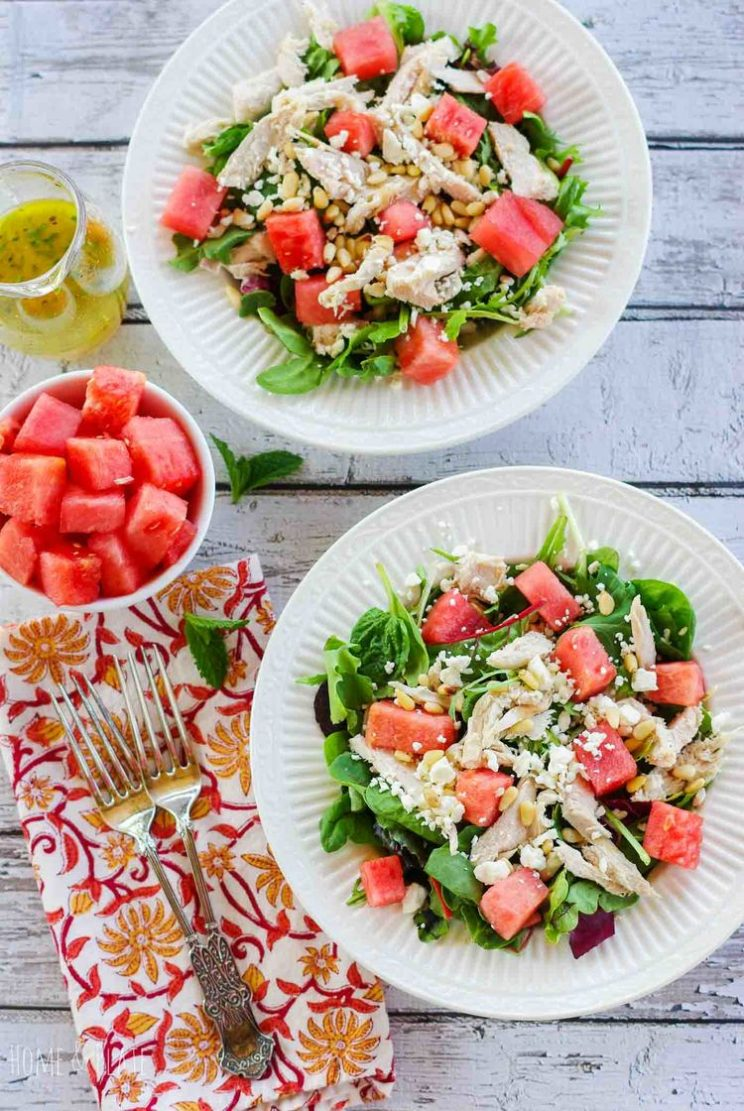 Watermelon Salad Recipes - Watermelon Chicken Salad