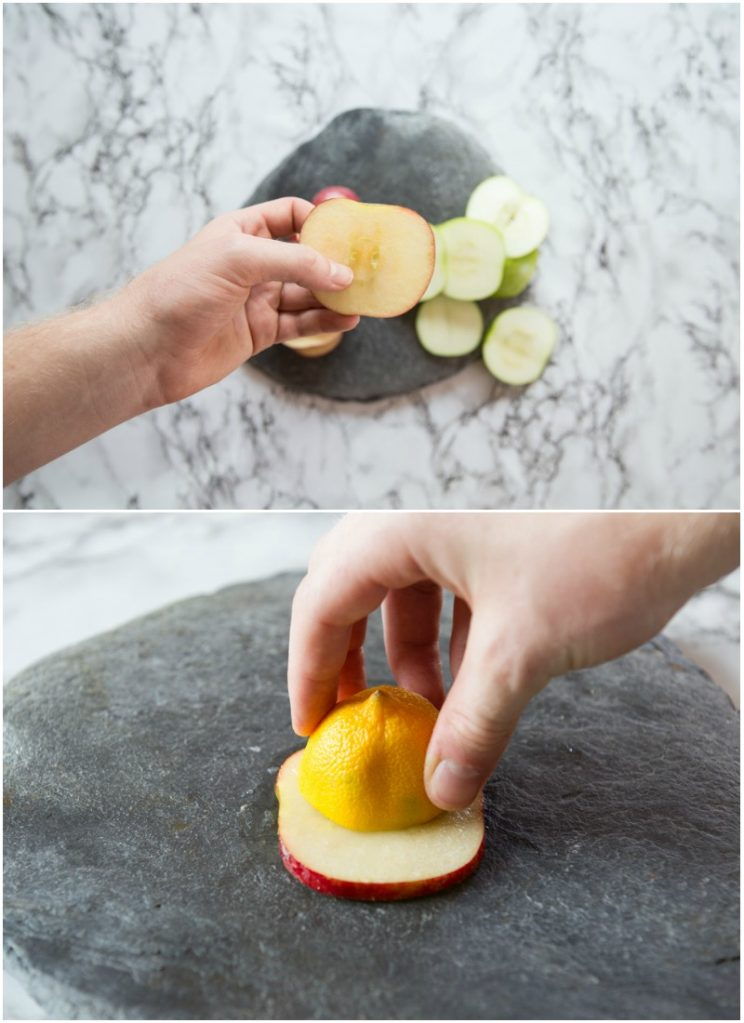 How to make Chicken Waldorf Salad Bites on Apple Slices - step by step 2