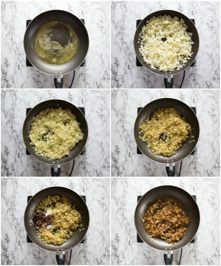 how to make caramelized onions step by step photos